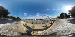 360 view from the the Canal de Alfonso XIII Stock Footage