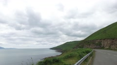 Asphalt road at wild atlantic way in ireland 72 Stock Footage