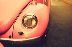 Car headlights Antique vintage. Stock Photos