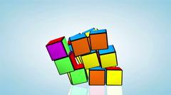 Rubik's cube animation Stock Footage