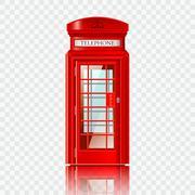 London red telephone box Stock Illustration