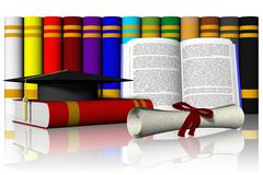 Book hat Degree 02 -  3D illustration Stock Illustration