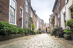 Charming street in Haarlem, The Netherlands Stock Photos