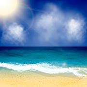 Summer vector background. Seascape Stock Illustration