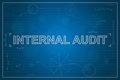 Blueprint of internal audit Stock Illustration