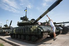 Weaponry and military equipment of the armed forces of Ukraine Stock Photos