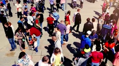 Russia, Novosibirsk, 9 may 2015. Crowd of people walking on the street. Top of Stock Footage
