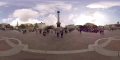360VR video of Trafalgar Square, National Gallery, Central London Stock Footage