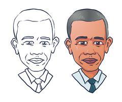Vector portrait of president Barack Obama Stock Illustration