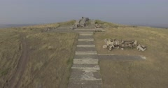 Savur grave in donbass area Stock Footage