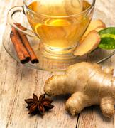 Tea With Spices Representing Organics Refreshments And Refreshes Stock Photos