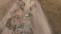 Tractor plowing the land Stock Footage