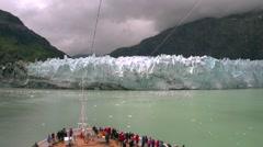 Glacier in Alaska on cruise ship Stock Footage