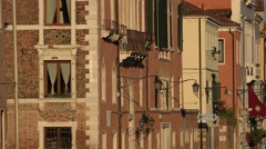 Old Buildings In Historical District Stock Footage