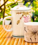 Outdoor Green Tea Meaning Break Refreshments And Outdoors Stock Photos