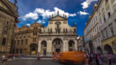 St. Salvator Church timelapse hyperlapse. Part Of Historic Complex In Prague - Stock Footage
