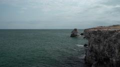 Majestic Sea Rocks View 4K Stock Footage