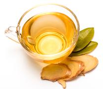 Healthy Ginger Tea Representing Refresh Teacups And Drinks Stock Photos