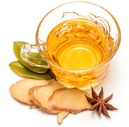 Healthy Ginger Tea Showing Refresh Herbals And Teas Stock Photos