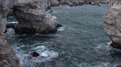 Rock Bridge with Waves 4K Stock Footage
