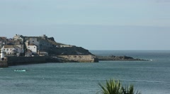 Cornish town by the sea - St Ives Stock Footage