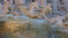 Trevi Fountain 6 Stock Footage