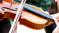 Musician playing on violin Stock Footage