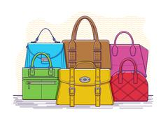 Set of bags Stock Illustration