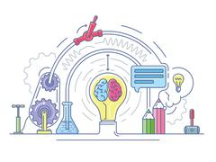 Ideas laboratory abstract Stock Illustration