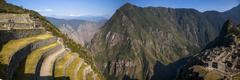 Machu Picchu, Peruvian  Historical Sanctuary  and a World Heritage Site Stock Photos