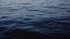 Deep blue sea. Calm waves, slow motion. Natural beauty, water. No people around Stock Footage