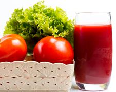 Tomato Juice Drink Indicating Refreshment Beverage And Refreshments Stock Photos