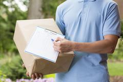 Fast and efficient delivery service Stock Photos