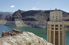 Nevada, Hoover Dam on sunny day Stock Photos