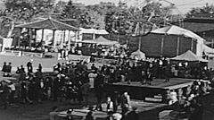 People at Sacramento County fair in 1938 Stock Footage