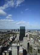 Massachusetts, Boston, Urban scene with office buildings Stock Photos