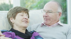 4K Happy and friendly mature couple who are still in love after all these years Stock Footage