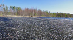 Russian  Spring landscape Stock Footage