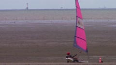Yatching on the beach Stock Footage