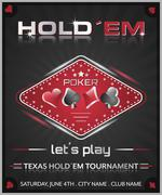 Texas holdem poker tournament poster. Piirros