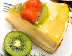 Fresh Strawberry Cake Showing Cuisine Sweet And Indulgence Stock Photos
