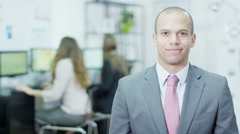 4K Portrait of a handsome young businessman with a winning smile Stock Footage
