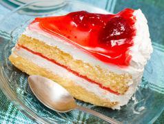 Strawberry Cream Cake Representing Restaurant Yummy And Gateaux Stock Photos