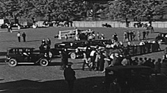 Sacramento County fair 1938: farmers showing cows Stock Footage