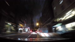 Driving a car from Long Island City to New Jersey through Manhattan. Stock Footage