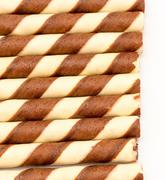 Brown Cookies Representing Wafer Biscuits And Bickies Stock Photos