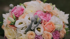 Luxurious wedding bouquet. Close up Stock Footage