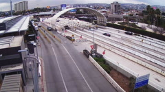 Time Lapse - Cars Entering Mexico At Border Crossing - San Ysidro CA Stock Footage