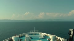 Travel with a ship in Greece. Timelapse Stock Footage