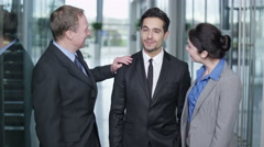 4K Portrait of successful smiling business team. Stock Footage